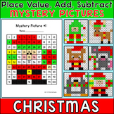Christmas Math Hundreds Chart Mystery Pictures - Color by Number