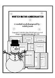 Christmas kindergarten Math center NO PREP black & white