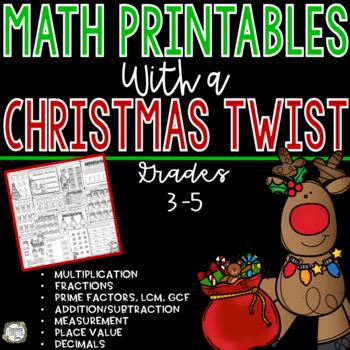 Christmas Math - No Prep Christmas Math Worksheets