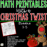 Christmas Math - No Prep Christmas Math Worksheets