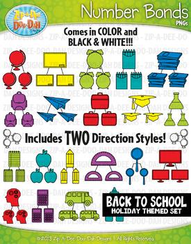 Back To School Math Number Bonds Clipart {Zip-A-Dee-Doo-Dah Designs}