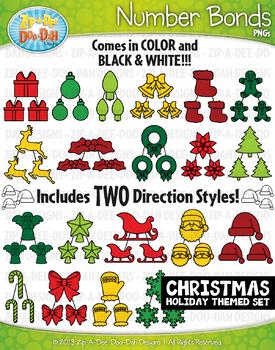 Christmas Math Number Bonds Clipart {Zip-A-Dee-Doo-Dah Designs}