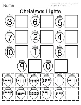 Christmas Math Numbers 1-10