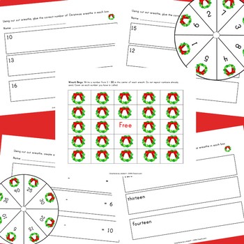 Christmas Math - Numbers 1-100  (Holiday Wreath Theme!)