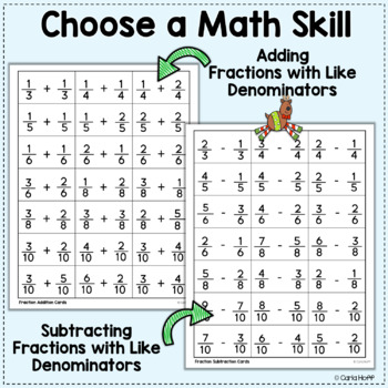Christmas Math Freebie  - Pick Your Skill!