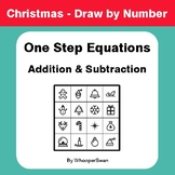 Christmas Math: One Step Equations: Addition & Subtraction