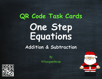Christmas Math: One Step Equations (Addition & Subtraction