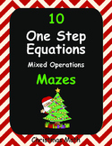 Christmas Math: One Step Equations Maze (Mixed Operations)