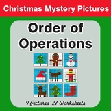Christmas Math: Order of Operations - Color-By-Number Math Mystery Pictures