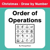 Christmas Math: Order of Operations - Math & Art - Draw by Number