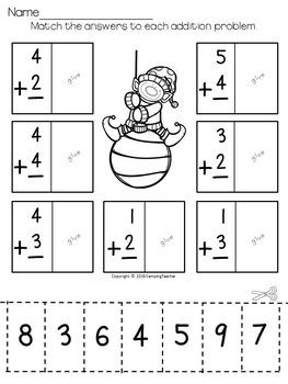 Christmas Math Pack No Prep Printables