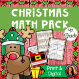 Christmas Math Pack for 4th Grade