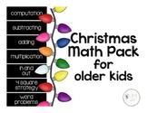 Christmas Math Pack for Older Kids