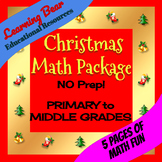Christmas Math Package- Simple Addition/Subtraction