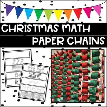 Christmas Math Paper Chains