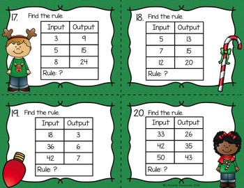 Christmas Math Game - Multiplication Patterns