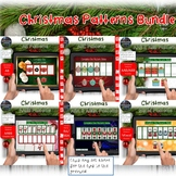 Christmas Math Patterns Interactive BOOM Cards 6 Decks & Smartboard Bundle