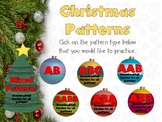 Christmas Math Patterns SMARTboard  Interactive Whiteboard FREEBIE