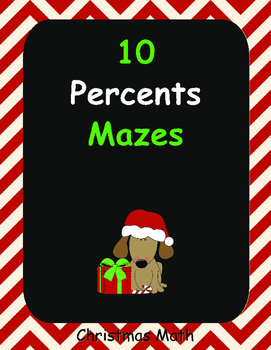 Christmas Math: Percents Maze