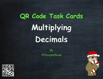 Christmas Math: Percents to Decimals QR Code Task Cards