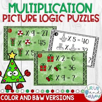 Math Logic Puzzles- Christmas Multiplication