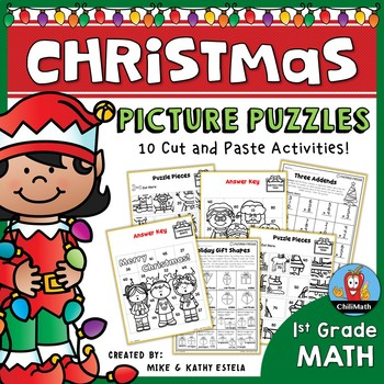 Christmas Math Picture Puzzles {1st Grade}