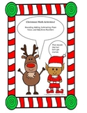 Christmas Math (Place Value, Adding, Subtracting, Rounding)