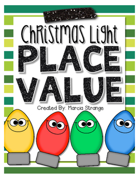 Christmas Math: Place Value Christmas Lights