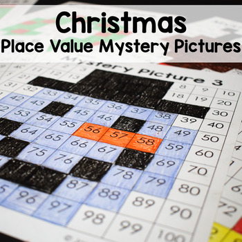 Christmas Math Place Value Color By Number Mystery Pictures