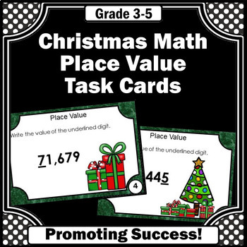 Christmas Math Activities, Place Value Games with Thousands Place