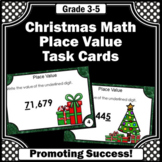 4th Grade Christmas Math Activities, Place Value Games with Thousands Place