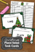 Christmas Math Centers Place Value Task Cards for Activiti