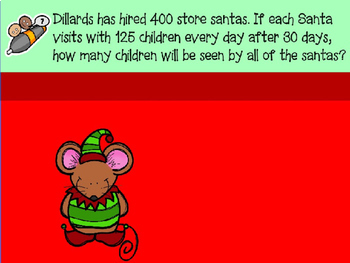 Christmas Math Word Problems Power Point