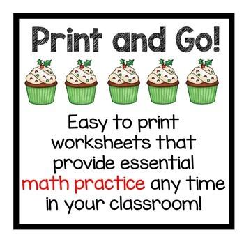 Christmas Math Practice 2nd Grade