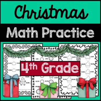 Christmas Math Practice 4th Grade