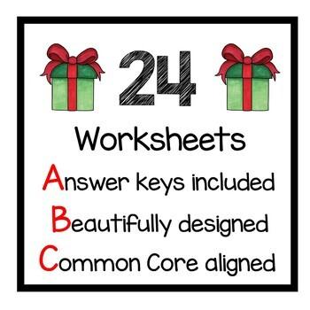 Christmas Math Practice 5th Grade