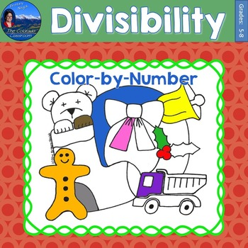Divisibility Math Practice Christmas Color by Number