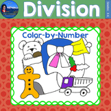 Division Math Practice Christmas Color by Number