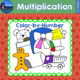 Multiplication Math Practice Christmas Color by Number