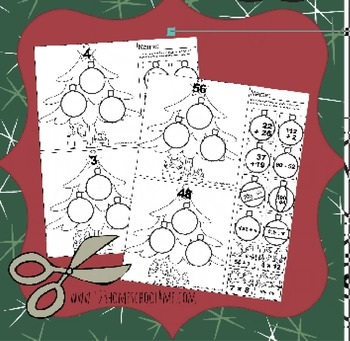 Christmas Math Practice (Multiplication, Division, Addition, Subtraction)