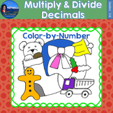 Multiply & Divide Decimals Math Practice Christmas Color b
