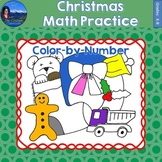 Christmas Math Practice Color by Number Grades K-8