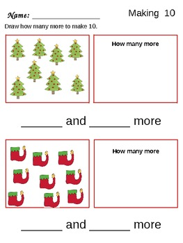 Christmas Math PreK-1st