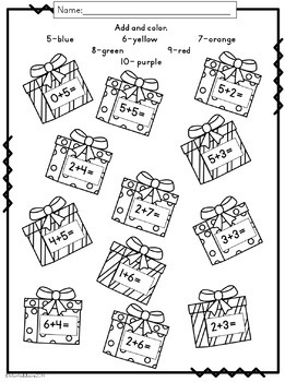 Christmas Math: Print and Go Pack {First and Second Grade}