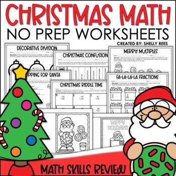 Christmas Math Print and Go Packet