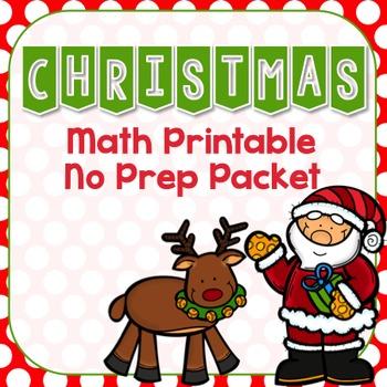 Christmas Math Printable No Prep Packet