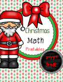 Christmas Math Printables (2nd/3rd grade Worksheets)