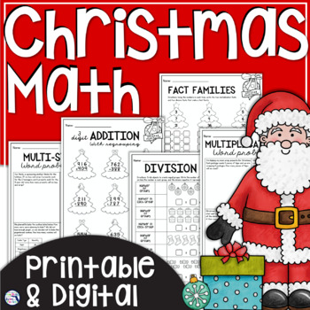Christmas Math Review Worksheets
