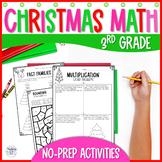 Christmas Math Activity Worksheets - Print & Digital