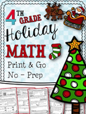 Christmas Math Printables - Fourth Grade
